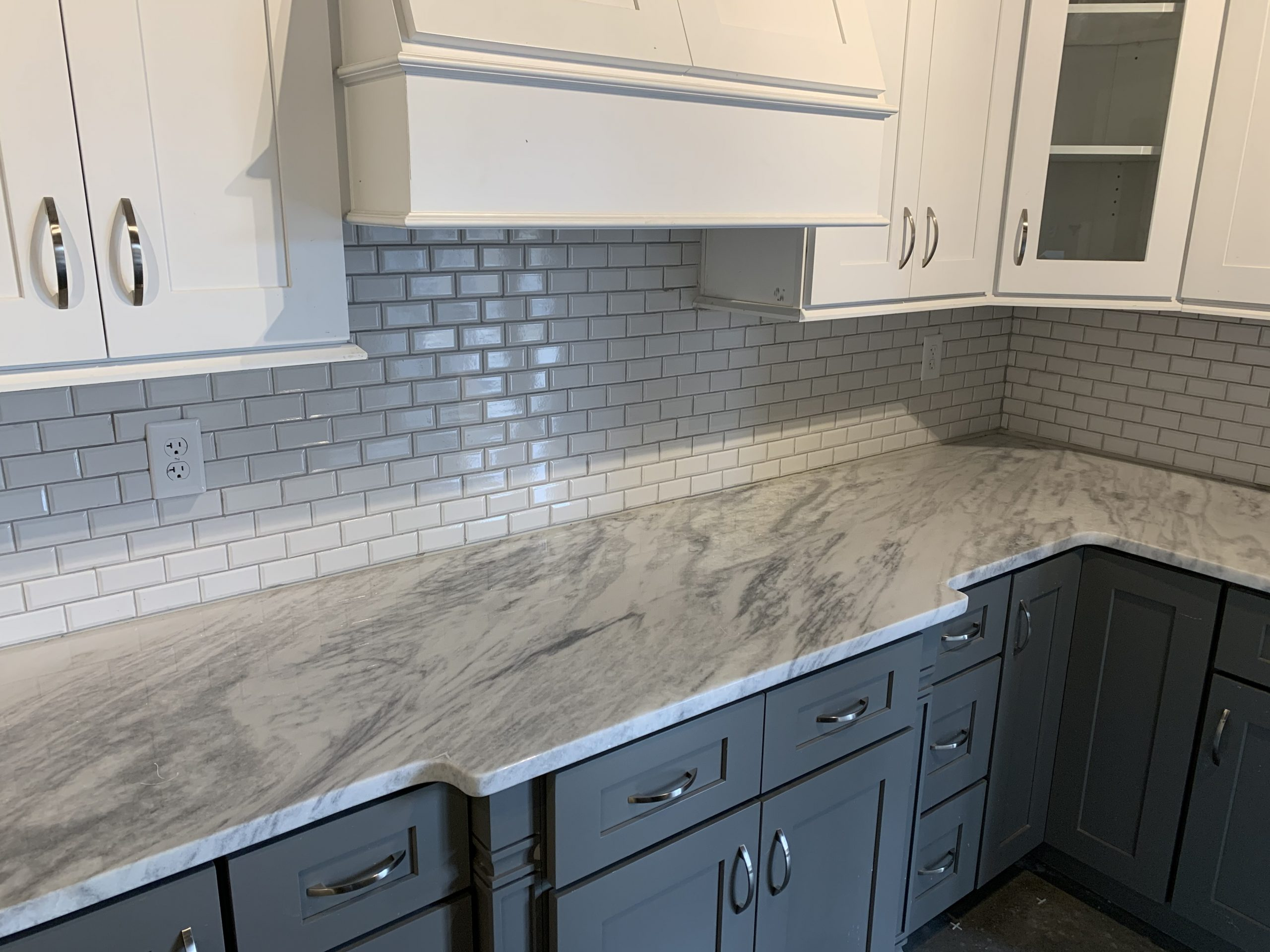 Types of Countertops - Mont Blanc Marble Countertop