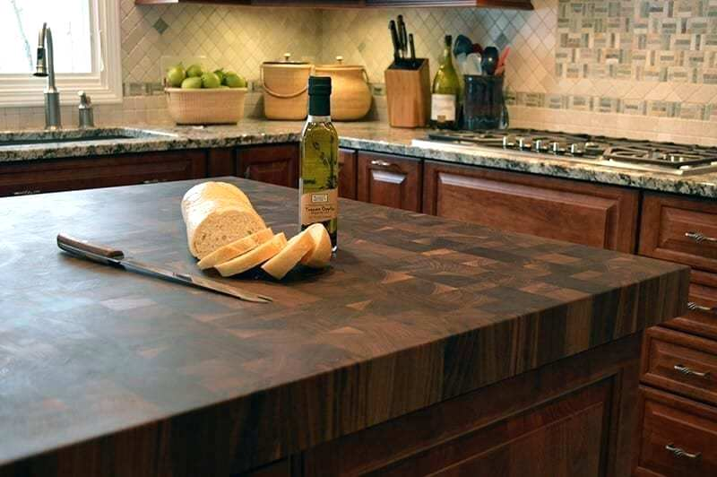 End Grain Countertop Island