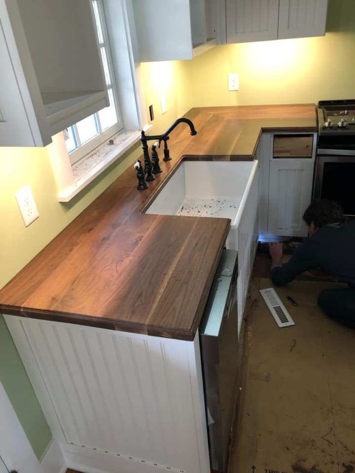 Face Grain Wood Countertop