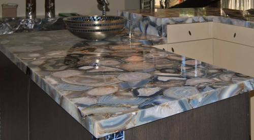Grey Agate Countertop - Gemstone Countertops