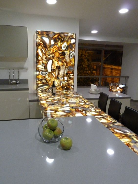 Gold Semi-Precious Countertops - Gemstone Countertops